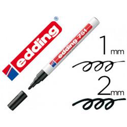 Rotulador edding punta fibra 751 negro punta redonda 12 mm