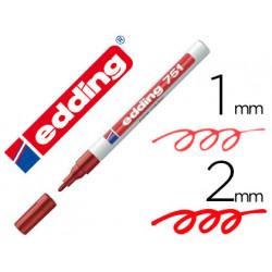 Rotulador edding punta fibra 751 rojo punta redonda 12 mm