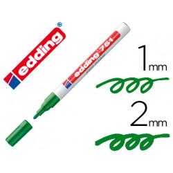 Rotulador edding punta fibra 751 verde punta redonda 12 mm