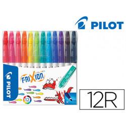 Rotulador pilot frixion colors bolsa de 12 colores surtidos