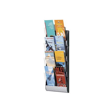 Expositor mural fastpaperflow 4 casillas 1/3 din a4 /din a5 color aluminio