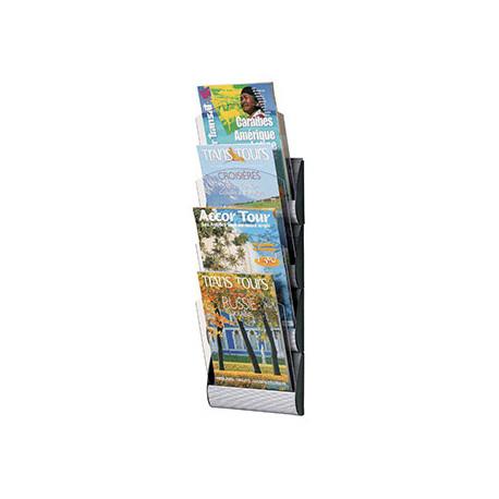 Expositor mural fastpaperflow 4 casillas din a4 color aluminio 735x232x90