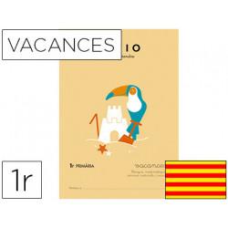 Cuaderno rubio vacaciones 1º primaria catalan