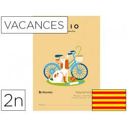 Cuaderno rubio vacaciones 2º primaria catalan