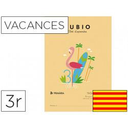 Cuaderno rubio vacaciones 3º primaria catalan