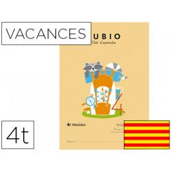 Cuaderno rubio vacaciones 4º primaria catalan