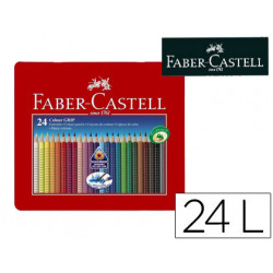 Lapices de colores faber castell acuarelable colour grip triangular caja me