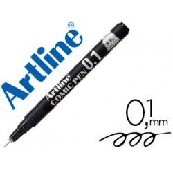 Rotulador artline calibrado micrometrico negro comic pen ek281 punta polia