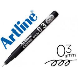 Rotulador artline calibrado micrometrico negro comic pen ek283 punta polia