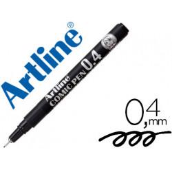 Rotulador artline calibrado micrometrico negro comic pen ek284 punta polia
