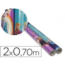 Papel fantasia infantil frozen rollo de 2x070 mt papel 60 gr modelos surti