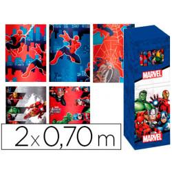 Papel fantasia infantil marvel rollo de 2x070 mt papel 60 gr modelos surti