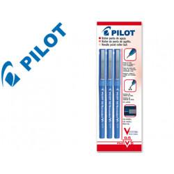 Rotulador pilot punta aguja v5 azul 05 mm blister de 3 unidadesm