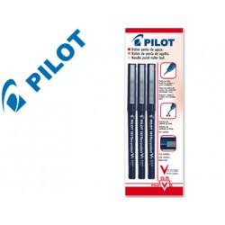 Rotulador pilot punta aguja v5 negro 05 mm blister de 3 unidadesm