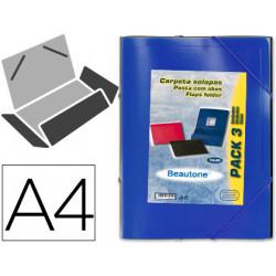Carpeta liderpapel gomas solap 387222534 poliprolileno a4 colores surtido
