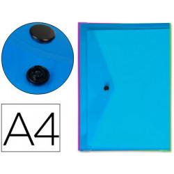 Carpeta liderpapel dossier broche transparente din a4 colores surtidos paqu