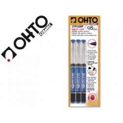 Rotulador ohto roller cfr155p punta ceramica azul tinta liquida con visor