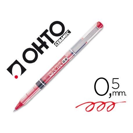 Rotulador ohto roller cfr155p punta ceramica rojo tinta liquida con visor