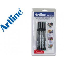 Rotulador artline retroproyeccion punta fibra permanente ek854 aznerove
