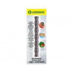 Sacapuntas qconnect metalico 1 uso cuña blister de 6 unidades