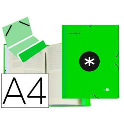 Carpeta liderpapel antartik clasificadora a4 12 departamentos gomas carton