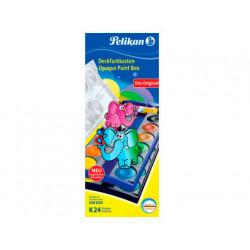 Acuarela pelikan k24 estuche plastico 24 colores