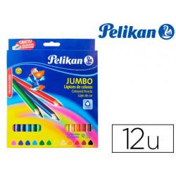 Lapices de colores pelikan triangulares 12 colores jumbo caja de carton + s