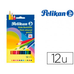 Lapices de colores pelikan triangulares 12 colores jumbo pelikan caja de ca