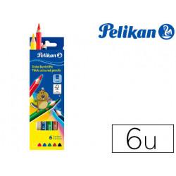 Lapices de colores pelikan triangulares 6 colores jumbo pelikan caja de car