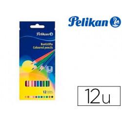 Lapices de colores pelikan hexagonales 12 colores caja de carton