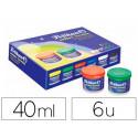 Tempera pelikan escolar 40 ml 742/40s caja de 6 colores + pincel
