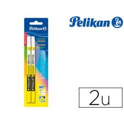 Rotulador pelikan fluorescente borrable 456 amarillo blister con 2 unidades