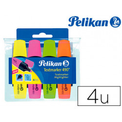 Rotulador pelikan fluorescente textmarker 490 estuche 4 unidades colores su
