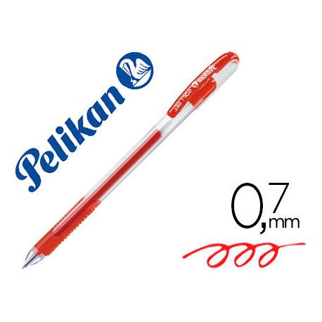Boligrafo pelikan soft gel rojo caja de 12 unidades