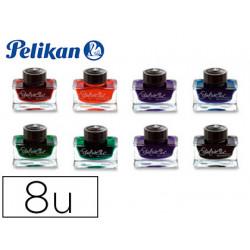 Tinta estilografica pelikan edelstein tintero set de 8 colores surtidos fra