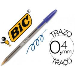 Boligrafo bic cristal azul unidad
