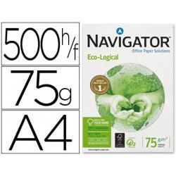 Papel fotocopiadora navigator eco logical din a4 75 gramos paquete de 500