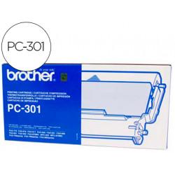 Repuesto fax pc301 brother cartucho y bobina