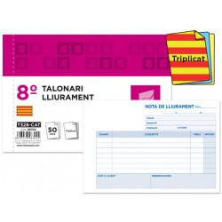 Talonario liderpapel entregas 8º original y 2 copias t328 texto en catalan