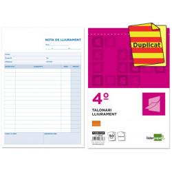 Talonario liderpapel entregas cuarto original y copia t226 texto en catalan