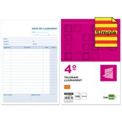 Talonario liderpapel entregas cuarto original t126 texto en catalan