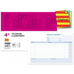 Talonario liderpapel entregas cuarto original y 2 copias t329 apaisado text