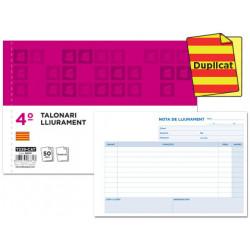 Talonario liderpapel entregas cuarto original y copia t229 apaisado texto e