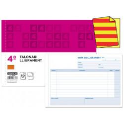 Talonario liderpapel entregas cuarto original t129 apaisado texto en catala