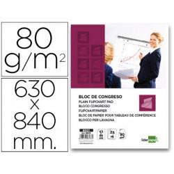 Bloc congreso liderpapel liso 63x84cm 25+5 hojas 80g/m2