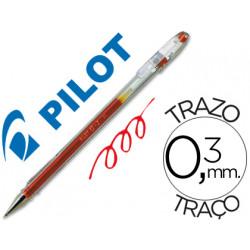 Boligrafo pilot g1 rojo tinta gel