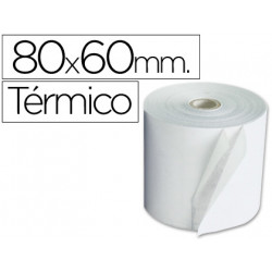 Rollo sumadora termico qconnect 80 mm ancho x 60 mm diametro