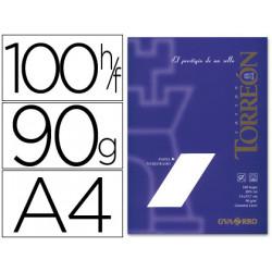 Papel torreon blanco crema a4 90 grs paquete de 100