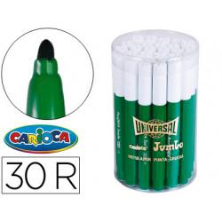 Rotulador carioca jumbo c30 verde punta gruesa bote de 30 unidades