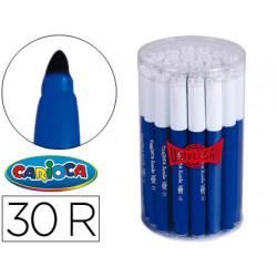 Rotulador carioca jumbo c30 azul punta gruesa bote de 30 unidades